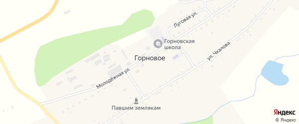 Молодежная улица на карте Горнового села с номерами домов