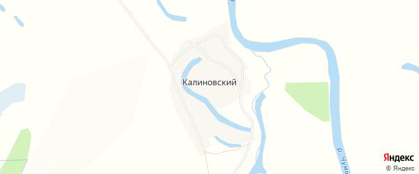 Карта Калиновского поселка в Алтайском крае с улицами и номерами домов