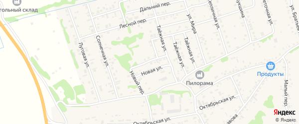 Полевой переулок на карте села Малоугренево с номерами домов