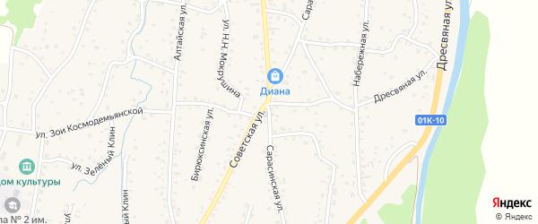 Сарасинская улица на карте Алтайского села с номерами домов