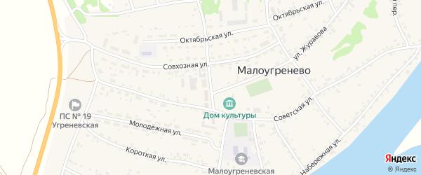 Площадь Щигарева на карте села Малоугренево с номерами домов