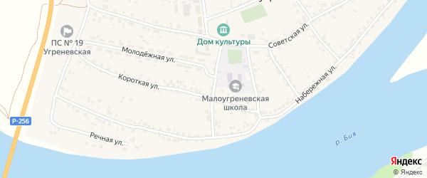 Кооперативный переулок на карте села Малоугренево с номерами домов