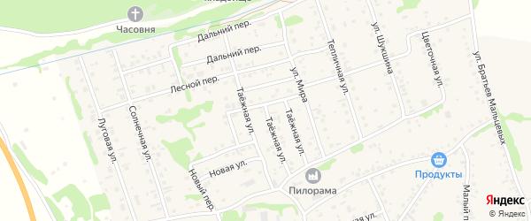 Таежная улица на карте села Малоугренево с номерами домов