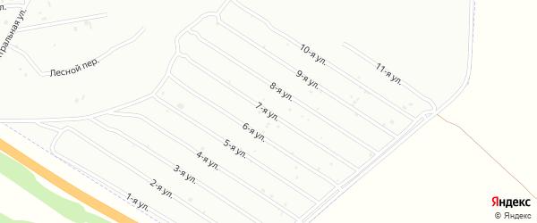 7-я улица на карте садового некоммерческого товарищества Машиностроителя с номерами домов
