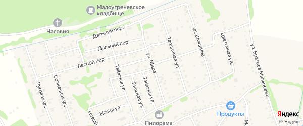 Улица Мира на карте села Малоугренево с номерами домов