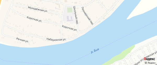 Набережная улица на карте села Малоугренево с номерами домов