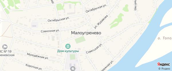 Западная улица на карте села Малоугренево с номерами домов