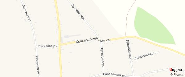 Красноармейская улица на карте села Красного Яра с номерами домов