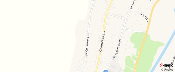 Улица П.Ф.Сенчихина на карте Алтайского села с номерами домов