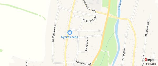 Круглый переулок на карте Алтайского села с номерами домов