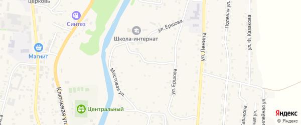 Детдомовский переулок на карте Алтайского села с номерами домов