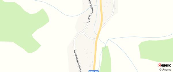 Красноармейская улица на карте села Сараса с номерами домов