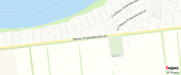 Мало-Угренёвская улица на карте Бийска с номерами домов