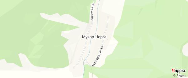 Карта села Мухора-Черги в Алтае с улицами и номерами домов