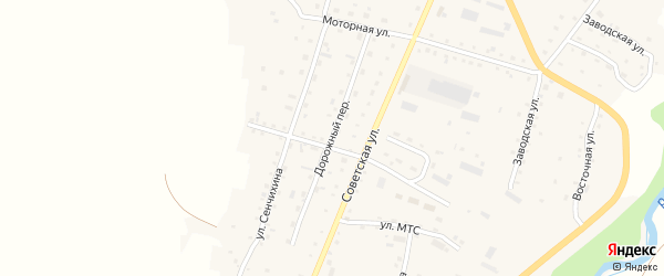 Дорожный переулок на карте Алтайского села с номерами домов