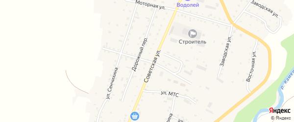 Автомобильный переулок на карте Алтайского села с номерами домов