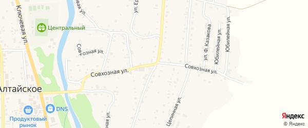 Совхозная улица на карте Алтайского села с номерами домов