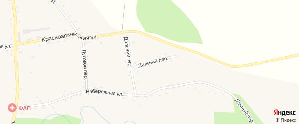 Дальний переулок на карте села Красного Яра с номерами домов