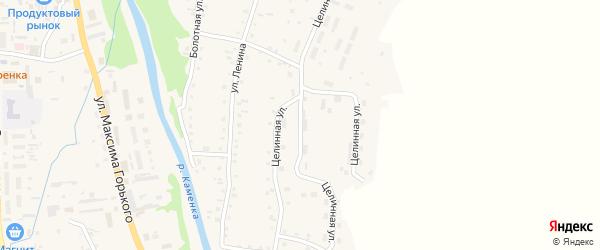 Целинная улица на карте Алтайского села с номерами домов