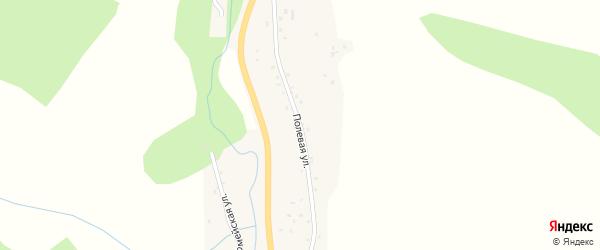 Полевая улица на карте села Сараса с номерами домов