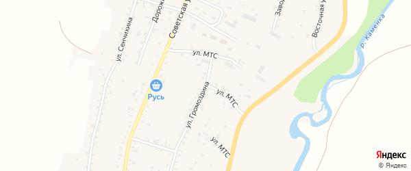 Улица МТС на карте Алтайского села с номерами домов