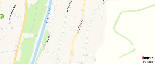 Улица В.И.Ленина на карте Алтайского села с номерами домов