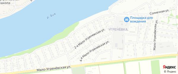 2-я Мало-Угренёвская улица на карте Бийска с номерами домов