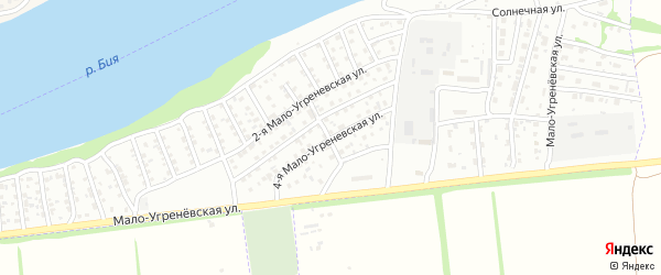 4-я Мало-Угренёвская улица на карте Бийска с номерами домов