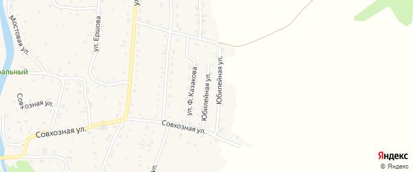 Юбилейная улица на карте Алтайского села с номерами домов