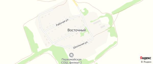 Центральная улица на карте Восточного поселка с номерами домов