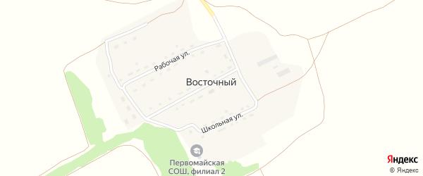 Трестовская улица на карте Восточного поселка с номерами домов