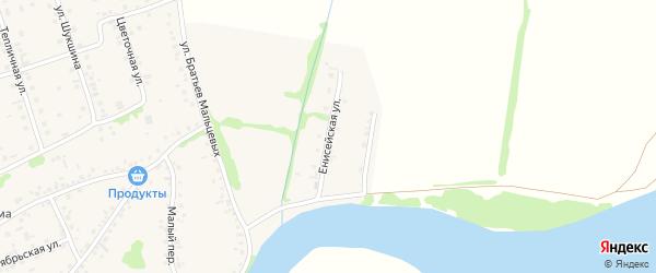 Енисейская улица на карте села Малоугренево с номерами домов