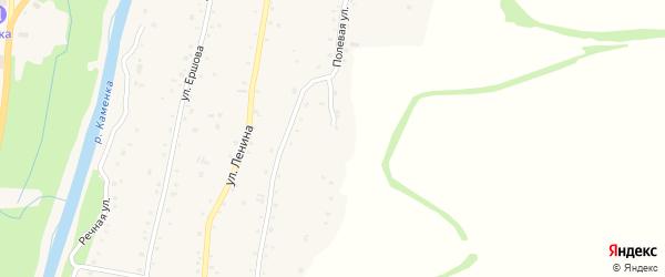 Полевая улица на карте Алтайского села с номерами домов