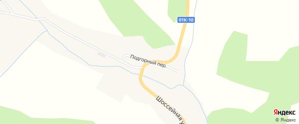 Подгорный переулок на карте Белого села с номерами домов