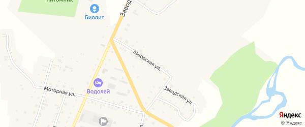 Заводская улица на карте Алтайского села с номерами домов