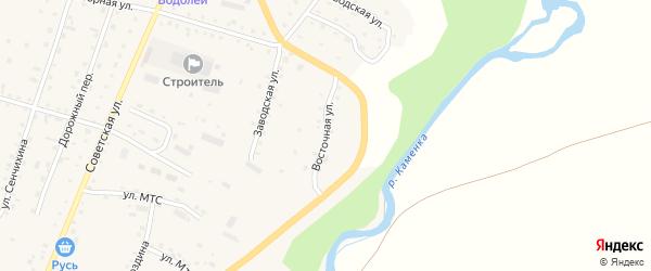 Восточная улица на карте Алтайского села с номерами домов