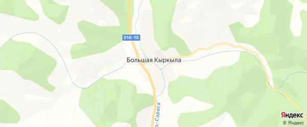 Карта поселка Большей Кыркылы в Алтайском крае с улицами и номерами домов