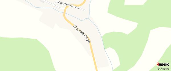 Шоссейная улица на карте Белого села с номерами домов