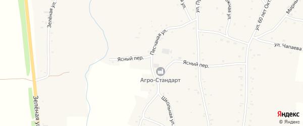Песчаная улица на карте села Нижнекаменки с номерами домов