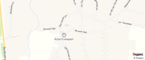 Ясный переулок на карте села Нижнекаменки с номерами домов