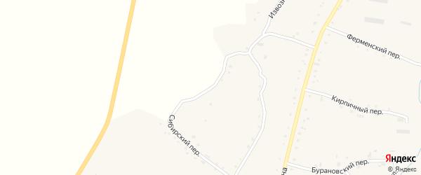 Сибирский переулок на карте села Нижнекаменки с номерами домов