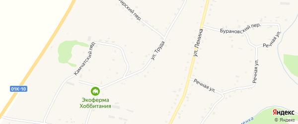 Улица Труда на карте села Нижнекаменки с номерами домов