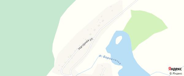 Нагорная улица на карте села Сосновки с номерами домов