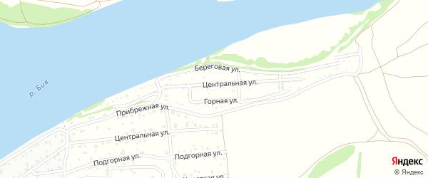 Горная улица на карте садового некоммерческого товарищества Сплавщика-2 с номерами домов