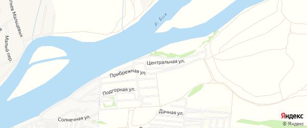 Карта садового некоммерческого товарищества Сплавщика-2 в Алтайском крае с улицами и номерами домов