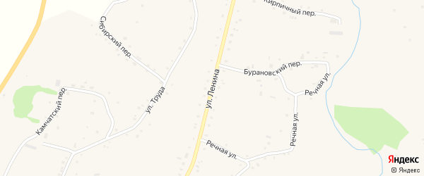 Улица Ленина на карте села Нижнекаменки с номерами домов