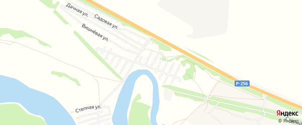 Карта садового некоммерческого товарищества Берега Катуни в Алтайском крае с улицами и номерами домов