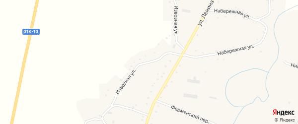 Извозная улица на карте села Нижнекаменки с номерами домов