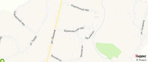Бурановский переулок на карте села Нижнекаменки с номерами домов