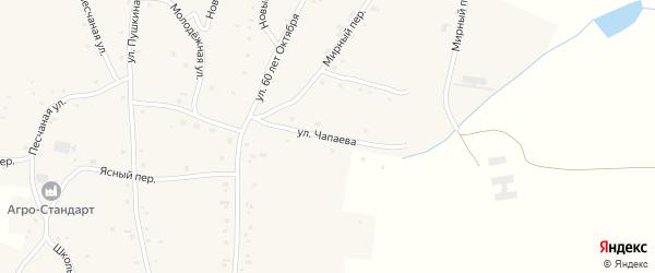 Улица Чапаева на карте села Нижнекаменки с номерами домов